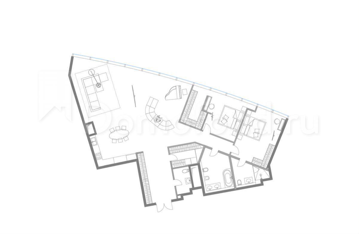 Квартира Квартира Своб. Планировки, 192 М², 92/96 Эт. Москва